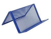 Praktyczny wizytownik z siateczki metalowej Net niebieski Z902