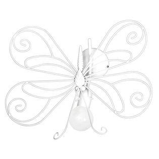 Kinkiet dziecięcy Motyl biały 1 5331 Decoland