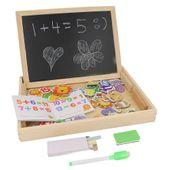 Tablica na Magnesy kredowa i biała dla Dziecka Puzzle Mazak Y165