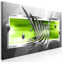 Obraz - Srebrne skrzydła (1-częściowy) wąski zielony