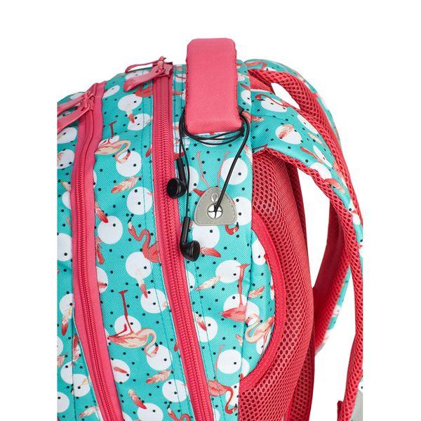 7504fff871e73 Plecak szkolny młodzieżowy Astra Head HD-83, miętowo-różowy we flamingi  zdjęcie 3