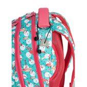 Plecak szkolny młodzieżowy Astra Head HD-83, miętowo-różowy we flamingi zdjęcie 3
