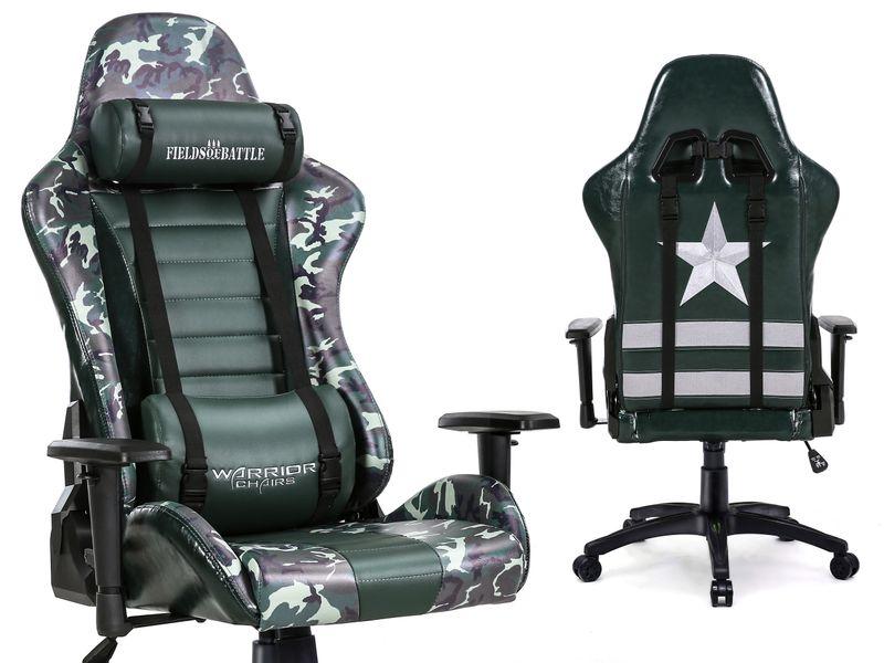 Fields of Battle FOREST CAMOUFLAGE fotel gamingowy Warrior Chairs zdjęcie 1