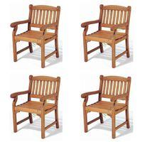 Drewniane krzesła fotele ogrodowe z drewna egzotycznego fotel 4szt