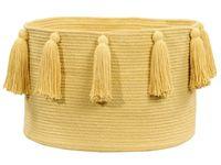 Ø45cm TASSELS Yellow bawełniany kosz dekoracyjny