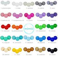 Kolorowe piłki piłeczki kulki do suchego basenu 24 kolory 25 sztuk
