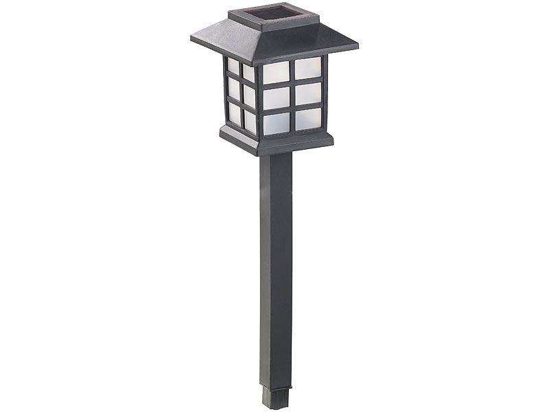 """Lampy ogrodowe solarne 6 sztuk Lunartec """"Asian"""" zdjęcie 5"""