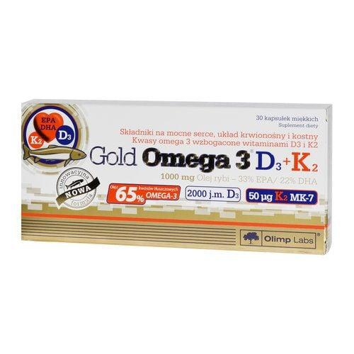 Olimp, Gold Omega-3 D3+K2, 30 kapsułek - Długi termin ważności! na Arena.pl