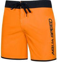 Spodenki kąpielowe męskie Aqua-Speed Evan pomarańczowo czarne kol.75 XL