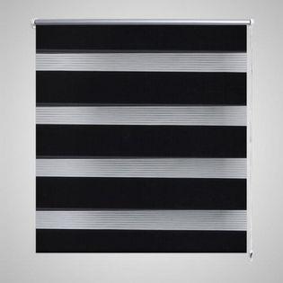 Roleta Zebra 80 x 150 cm Czarna