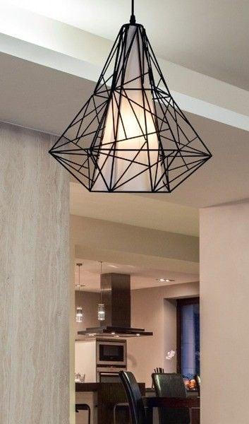 Lampa wisząca SKELETON HP1335-BL czarna Zuma Line zdjęcie 2