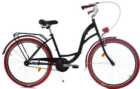 """Rower Dallas City 28"""" 1spd - czarny z czerwonym"""