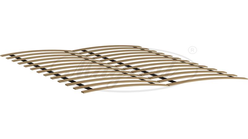 łóżko Drewniane 140 X 200 Alion Szary Stelaż
