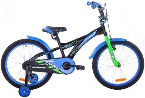 Rower dziecięcy 20 Fuzlu Eco czarno-niebieski