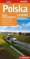 Polska mapa samochodowa 1 : 650 000 praca zbiorowa