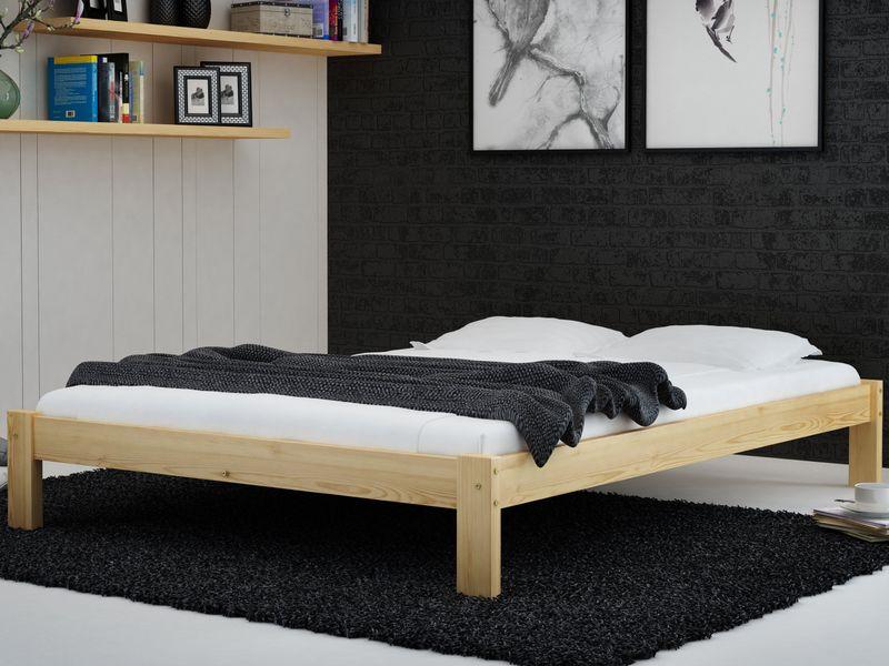 Stabilne łóżko Drewniane Do Sypialni 120x200 F1 Sosna Magnat