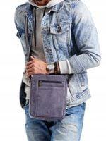 Skórzana miejska torba męska na ramię listonoszka