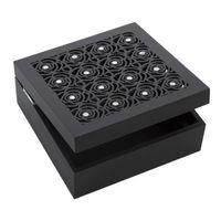 Pudełko na biżuterię ROSE 16X16X6 czarny
