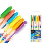 KIDEA Długopisy żelowe 6 kolorów Fluorescencyjne Zapachowe (DZF6KA)