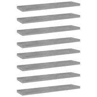 Lumarko Półki na książki, 8 szt., szarość betonu, 40x10x1,5 cm, płyta