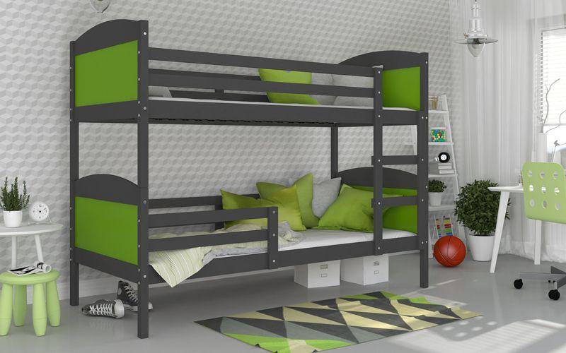 Łóżko piętrowe MATEUSZ COLOR bez szuflady 190x80 + materace zdjęcie 6