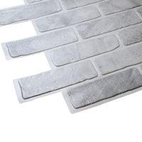 Panele Ścienne 3D PCV Stara Cegła Szara Old Brick Grey