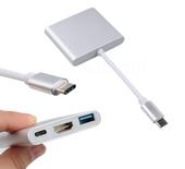 Przejściówka Adapter 3w1 HUB USB C HDMI 4K MacBook Air Pro 13/15/16 zdjęcie 5