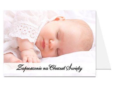 FOTO ZAPROSZENIA Chrzest Roczek Urodziny zdjęciem.