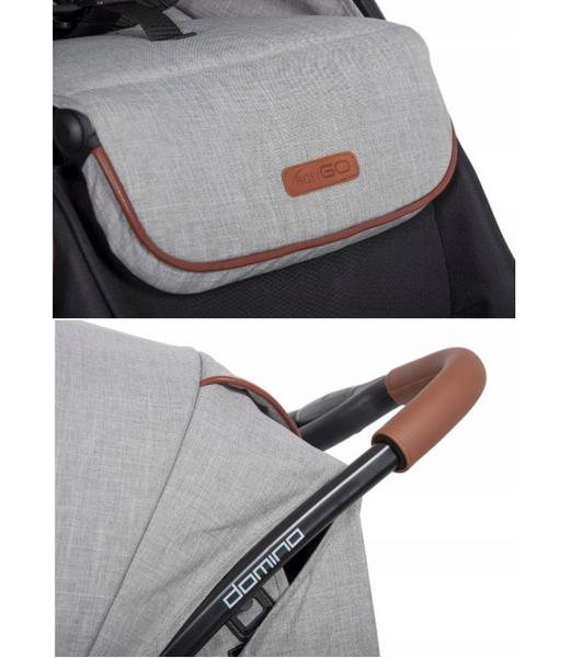 EasyGo Domino wózek dla bliźniąt spacerowy bliźniaczy DENIM wys.0zł zdjęcie 4