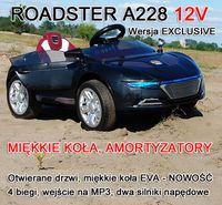 NAJNOWSZY ROADSTER A228, DWA SILNIKI,OTWIERA DRZWI. MIĘKKIE KOŁA/A228