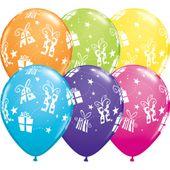 Balony kolorowe Prezenty 30 cm 5 szt