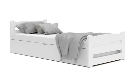 Łóżko DAWID białe 200x90 podnoszone automat