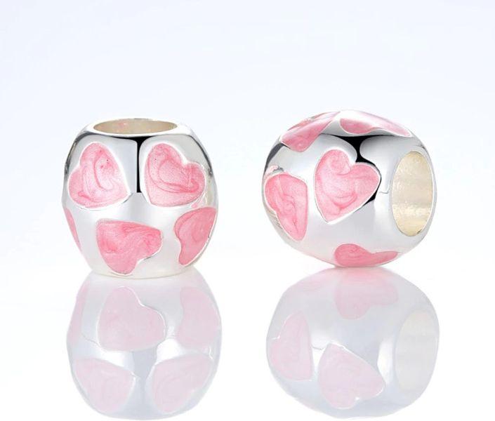 "Charms do Pandora "" Różowe Serca"" zdjęcie 2"