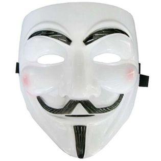 """Maska """"Anonymous"""", biała, plastikowa"""