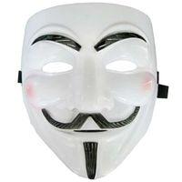 Maska V jak Vendetta Anonymous, Guy Fawkes BIAŁA