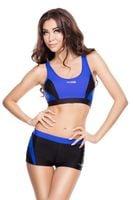 Kostium pływacki FIONA Rozmiar - Stroje damskie - 42(XL), Kolor - Stroje damskie - Fiona - 14 - czarny / niebieski