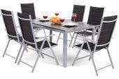 Meble ogrodowe aluminiowe Ibiza Silver / Black 6+1 zdjęcie 13