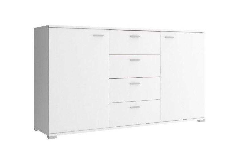 Komoda 150 z szufladami biała do salonu na Arena.pl