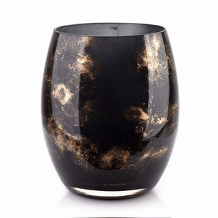 Wazon Szklany 20X16Cm Czarny Marmur Cristie Mondex Ox5057