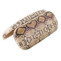 Etui na okulary Wężowa skóra brązowe