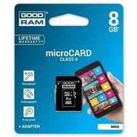 Karta pamięci microSDHC 8GB Goodram + adapter SD