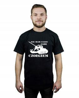 Koszulka męska NIE MAM CZASU JADĘ CZOŁGIEM r XXL