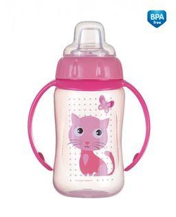 Canpol Kubek treningowy z ustnikiem i uchwytami Cute Animals Kolor - Różowy