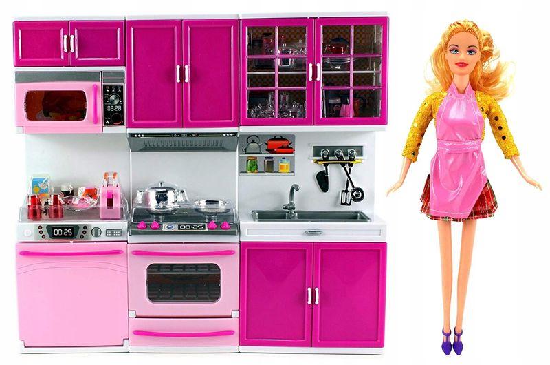 Lalka Z Mebelkami Kuchnia Do Domku Lalki Barbie