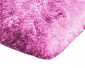 Mięciutki wysoki dywan pluszowy 140x200 neonowy róż