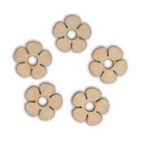 SD041 Kwiatuszki ze sklejki 5 szt