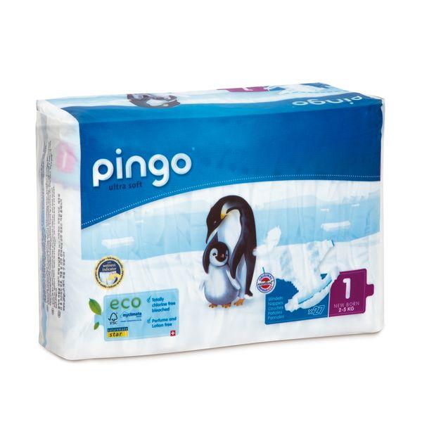Pieluszki Pingo Ultra Soft 1 New Born 2-5kg 81szt. (3x27) na Arena.pl