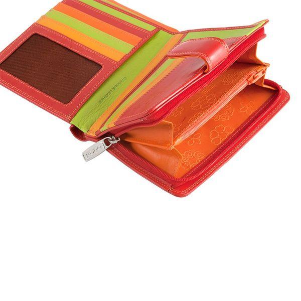 Skórzany portfel damski DuDu®, 534-1161 czerwony zdjęcie 3