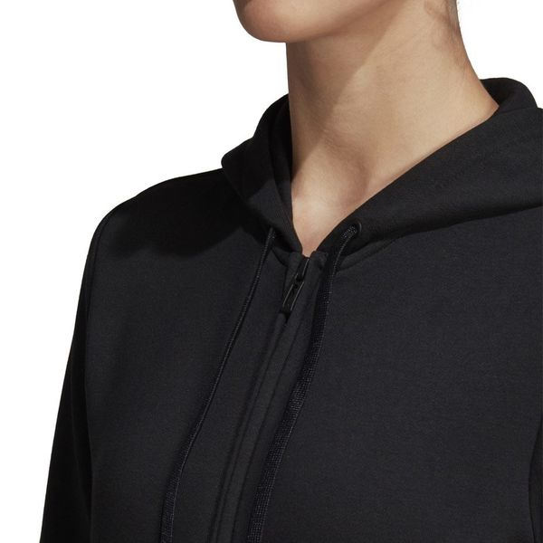 Bluza damska adidas W Essentials Linear FZ HD czarno biała DP2401 XL