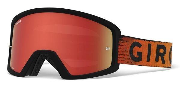 Gogle GIRO BLOK MTB black red hypnotic (Szyba Czerwona Lustrzana AMBER SCARLET + Szyba Przeźroczysta 99% S0)